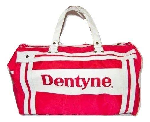 1980's true vintage dentyne gum holdall bag