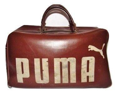 1970's true vintage brown puma holdall