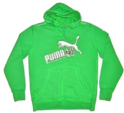 vintage puma hoodie green, size medium