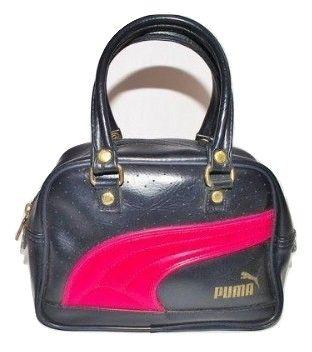 cute little blue puma handbag