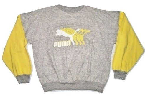 80'oldskool retro womens puma jogging sweater size M