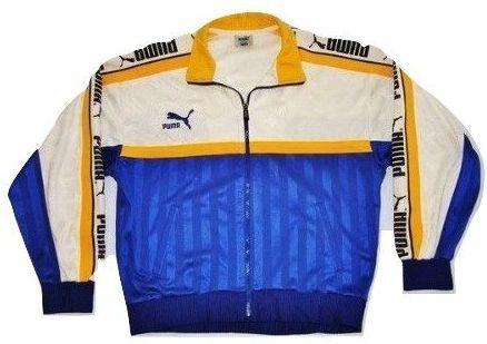 1990's true vintage puma tracksuit top size M