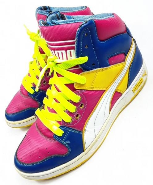true vintage puma breaker hightop sneakers size uk 9 issued 2004