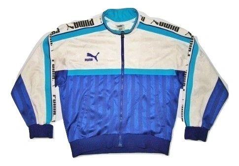 true oldskool spellout puma jacket size S-M