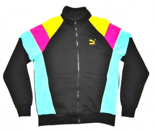 wavey style retro puma zip up sweater size L