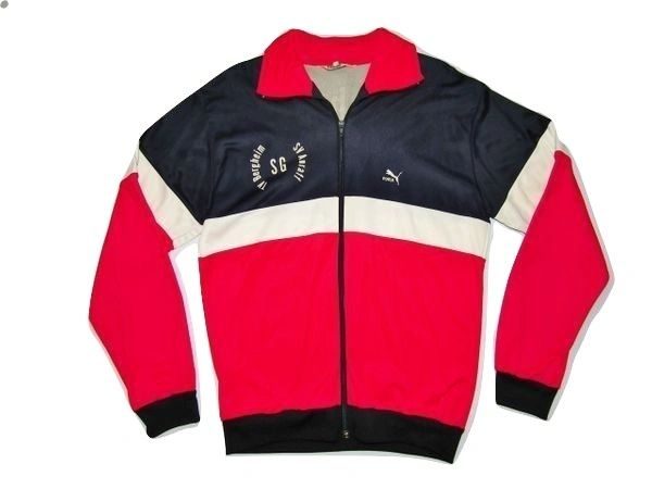 true vintage puma retro sports jacket size L