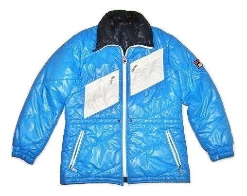 80's classic true vintage fila puffa jacket size M-L