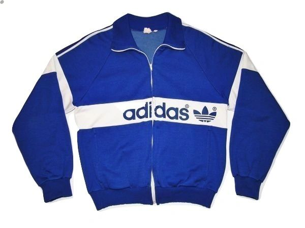 truly oldskool vintage adidas track top size small