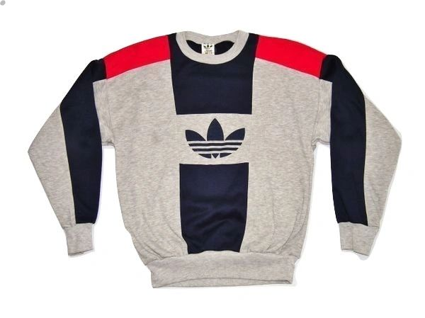 adidas 1980's true vintage sweater size uk S-M