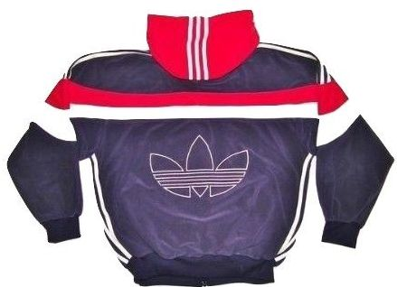 original 90's adidas velour hoodie tracktop size L-XL