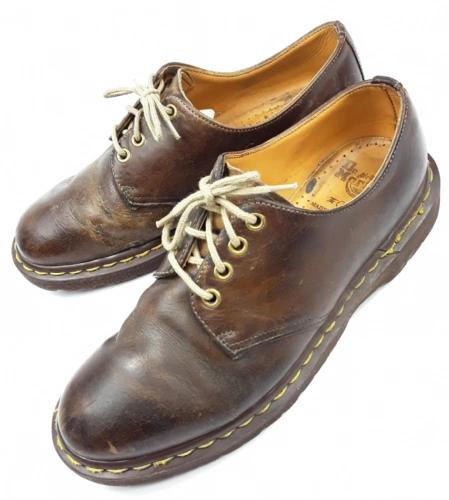 true vintage doc martens shoes size uk 7 brown leather