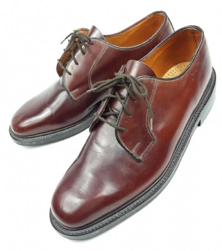 true vintage 1990's frank wright quality leather mens shoes uk 9.5