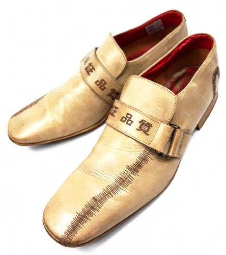 very rare vintage evisu formal leather shoes size uk 10