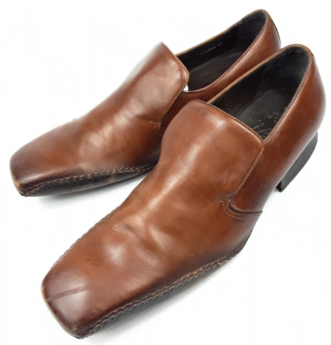 mens 2003 true vintage russell & bromley leather shoes size 10