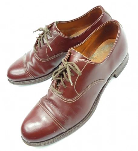 1980's true vintage original army dress shoes size 9