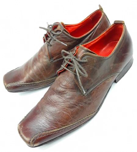 2002 true vintage italian mens leather shoes size 8