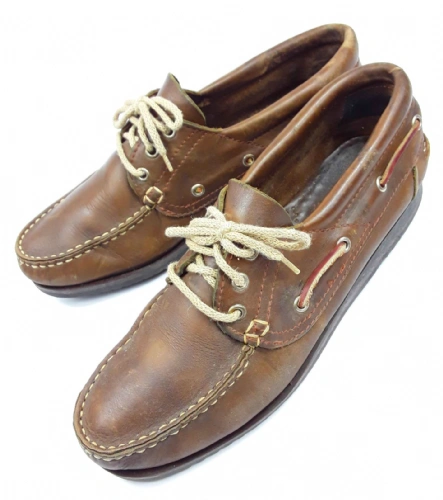 mens 1995 true italian vintage leather boat shoes