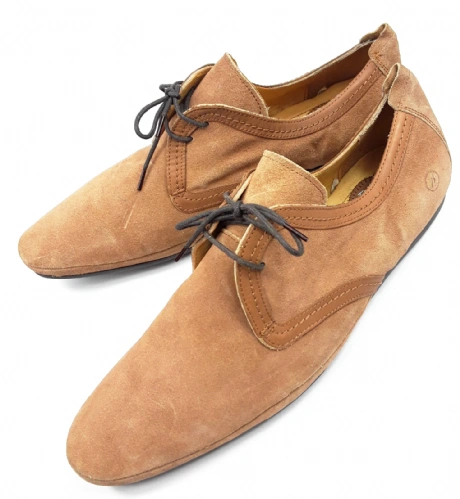 mens retro brown suede leather shoes size 11