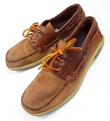 mens 90's oldskool vintage leather boat shoes size 8