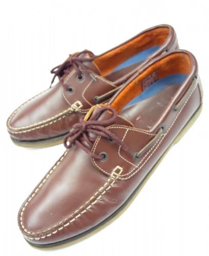 mens true vintage leather boat sailor shoes uk 11