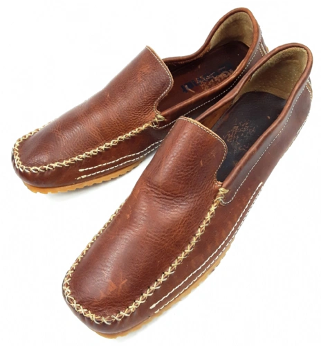 mens vintage quality slip on brown leather shoes size uk 9