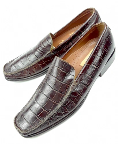 retro patent mens slip on shoes size 8.5