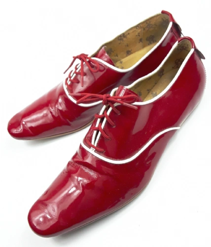 retro patent red mens clubbing shoes size uk 9 hudson