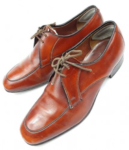 true vintage brown leather formal shoes uk 7