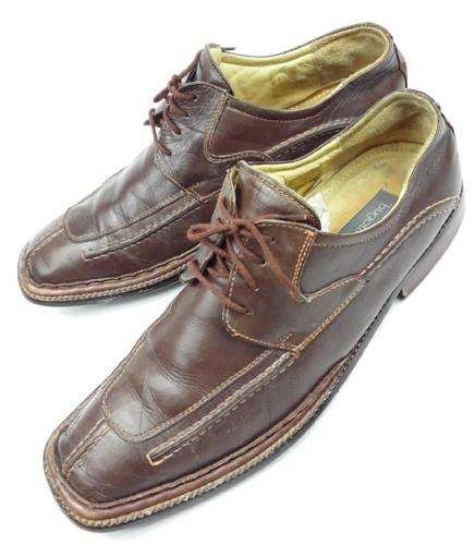 true vintage mens bugatti leather lace shoes size 8