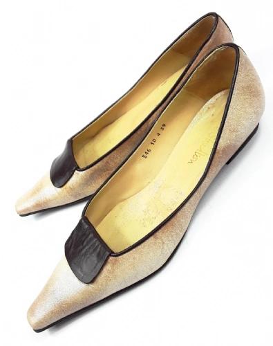 womens true vintage Jane Shilton slip on leather shoes size uk 6