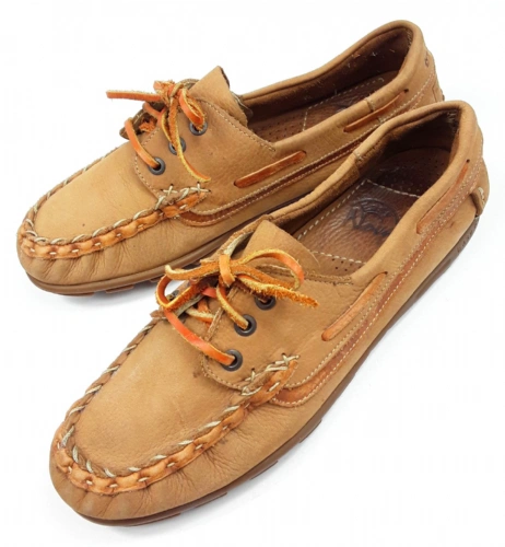 1990,s mens true vintage leather boat shoes size 8