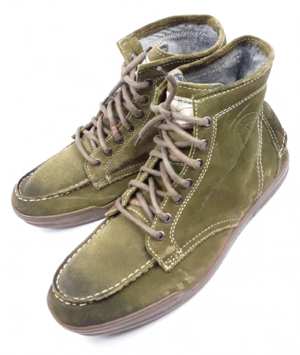 mens true vintage calvin klein green suede boots size uk 11