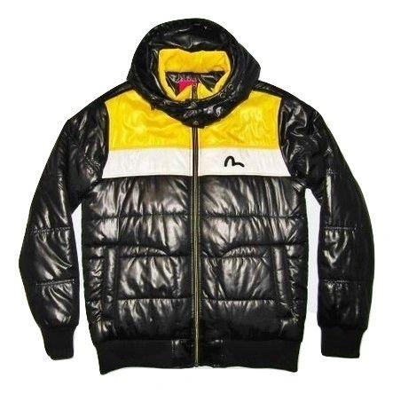 mens oldskool retro style evisu padded jacket size L