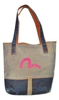 vintage evisu little shopper denim bag