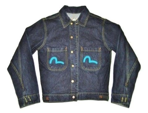 original vintage evisu denim jacket UK M