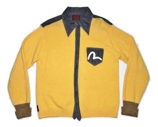 vintage evisu cardigan size medium