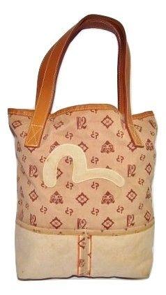 2006 true vintage evisu leather shopper bag