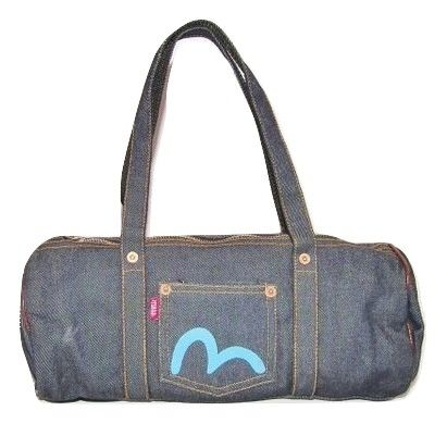 2007 small evisu denim vintage handbag