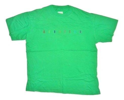 80s original green benetton tshirt size medium