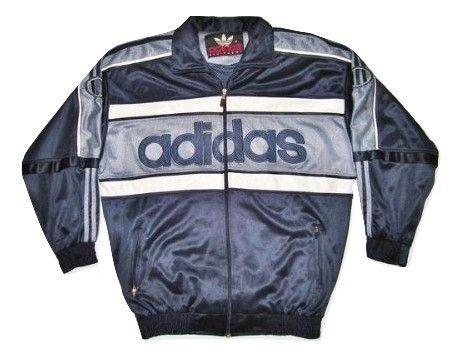 Original 90's adidas equipment velour jacket XXL