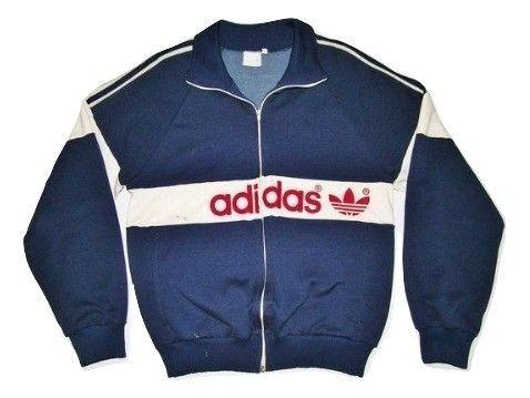 oldskool classic 1982 adidas tracksuit top UK S