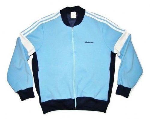 80's casuals vintage adidas jacket UK M