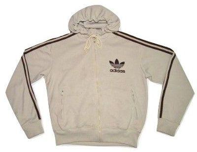classis 90's adidas originals hoodie brown size M-L
