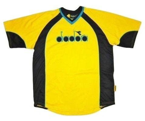wavey diadora tshirt yellow size large