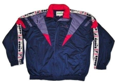 mens true vintage diadora tracksuit issued late 80's size xxl