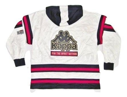 true vintage rare kappa spellout hooded tracktop size L-XL 1990
