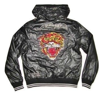 truly retro ed hardy womens wax jacket size M-L
