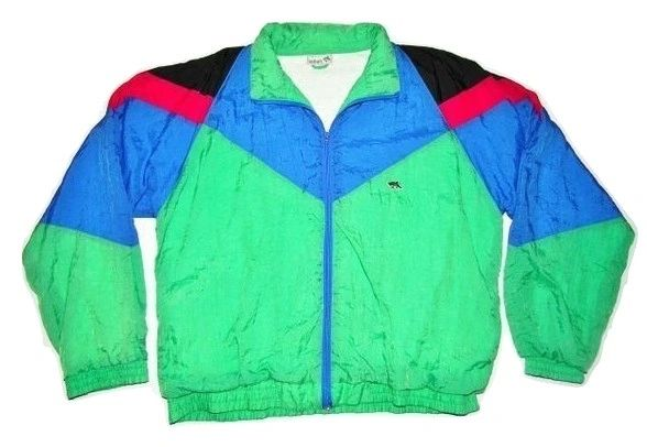 very rare true vintage 80's le shark sports jacket size XL