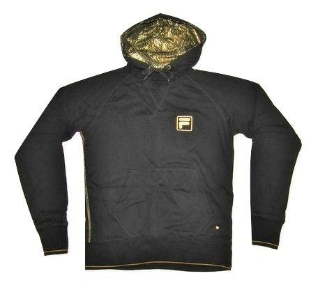 mens fila gold hoodie size small