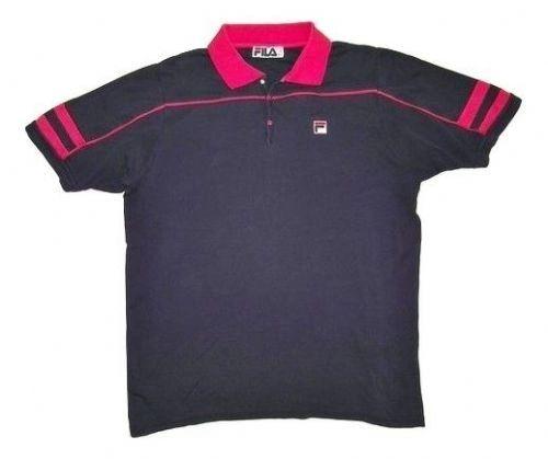 classic 80's vintage fila polo tshirt size L-XL